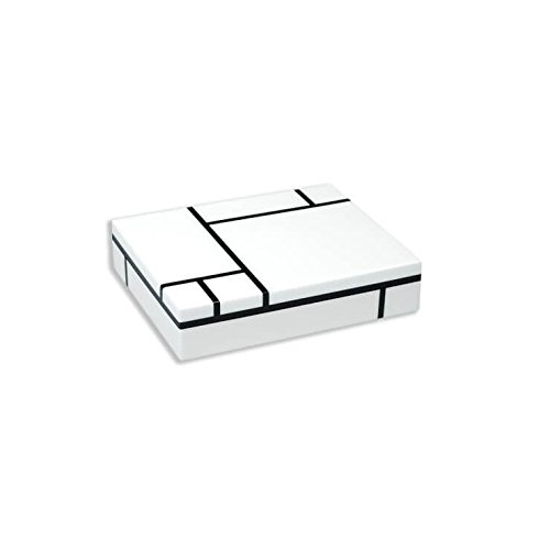 Pacific Connection - Mondrian - Large Box - Lacquered Wood - Composition in Black and White (1934) - 12.5