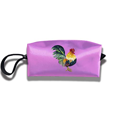 Cosmetic Bags With Zipper Makeup Bag Vibrant Rooster