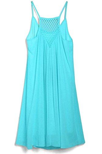Abito Spiaggia Vacanze Gonna Donna Estate Azzurro Vestito beachwear Bozevon Dress Da Sling Di Abiti qBatHxTW