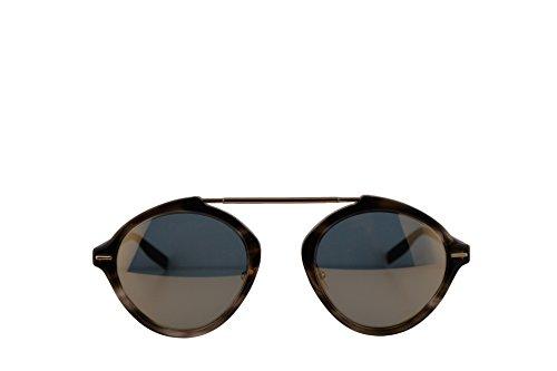 Christian Dior Homme DiorSystem Sunglasses Havana Matte Black w/Grey Bronze Mirror Lens 49mm 2OSJO Dior System Dior System/S DiorSystem/S