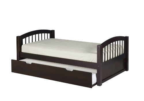 Camaflexi Arch Spindle Style Solid Wood Platform Bed with Tr