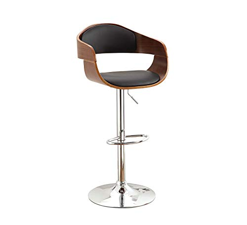Natural Stool Swivel Oak Pub - Wood & Style Furniture Leatherette Swivel Bar Stool, Dark Oak Home Bar Pub Café Office Commercial
