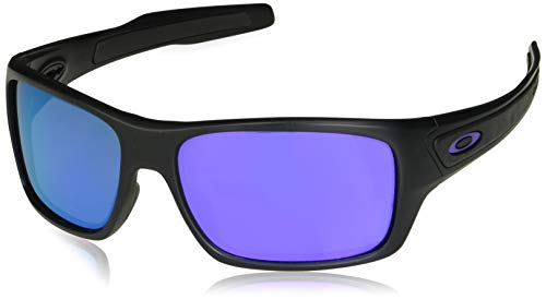 Oakley Men's Turbine Rectangular Sunglasses, Matte Black, 65.0 mm