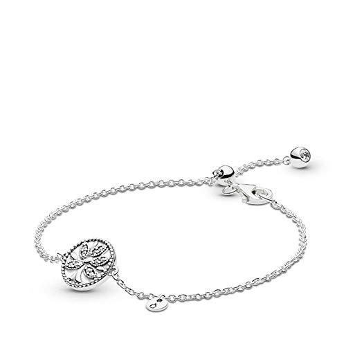 PANDORA Tree of Life 925 Sterling Silver Bracelet, Size: 18cm, 7.1 inches - 597776CZ-18 (Tree Of Life Jewelry)