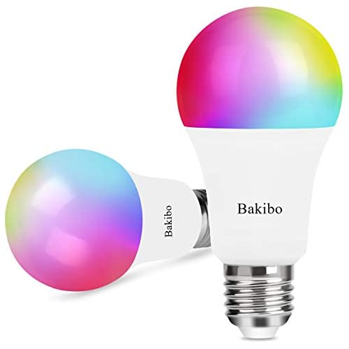 chollos oferta descuentos barato bakibo Bombilla LED Inteligente WiFi Regulable 9W 1000 Lm Lámpara E27 Multicolor Bombilla Compatible con Alex