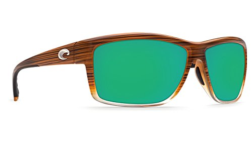 [Costa Mag Bay 580G Sunglasses - Polarized Wood Fade Green Mir 580g, One Size] (Mag Green)