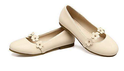 Mini Puntera De Tacón Zapatos Tacón Mujeres Beige Cerrada Aalardom tsmdh003100 Microfibra gawIPnF