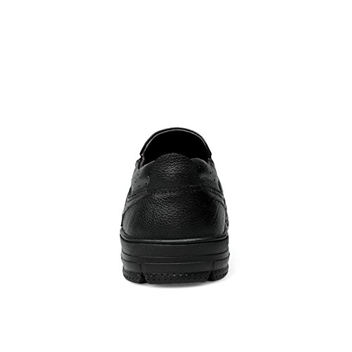 UK Schwarz Schuhe Freizeit Mens Slip 8082 Komfortable Größe On Mokassin 7 Energetic Bussiness Casual Cosy Leder Smart CFP 6x4S1Zw4
