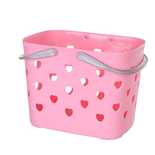 YJYdada Storage Bathroom Kitchen Hollow Plastic Color Fashionable Portable for Basket (B)
