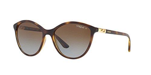 Vogue Eyewear Womens Sunglasses Tortoise/Brown Plastic - Polarized - - Sunglasses Vogue Women's