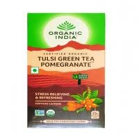 Organic India Tea Pomegranate Green , 25 Count (Pack of 2)