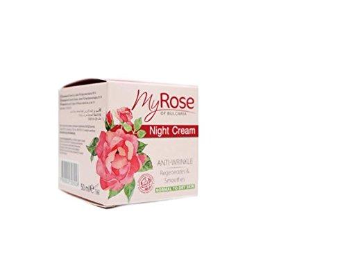 My Rose of Bulgaria Anti-wrinkle Night Cream with Hyaluronic acid, Rosa...