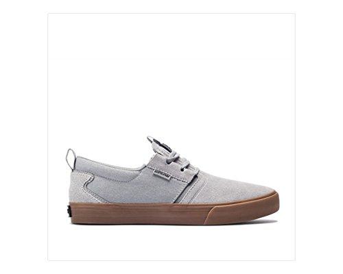 Supra Mens Flow Grey Dark Grey Gum Skate Shoes