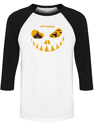 Greeting Halloween Night Raglan Men's -Image by Shutterstock from Teeblox