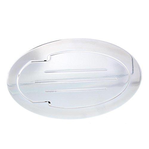 (Polished Billet Aluminum Oval Fuel Fill Filler Door )