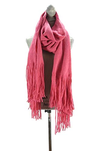 - Free People Women's Kolby Brushed Scarf (Dark Pink, One Size)