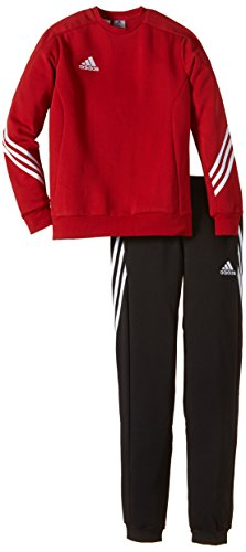 adidas Unisex - Kinder Trainingsanzug Sere14 Sweat Y, power rot/weiß, 116, F81930