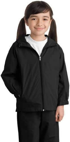 Sport YST73 Youth Hooded Raglan Jacket Black M