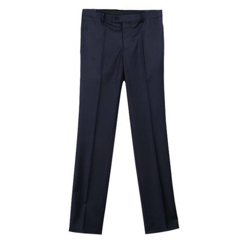 Zeagoo Men's Regular Fit Formal Straight Pants Smooth Trousers XL Navy Blue