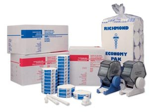 Richmond Dental 201208 Braided Cotton Roll, Non-Sterile, 3/8'' Diameter, 6'' Length, Medium (Pack of 200)