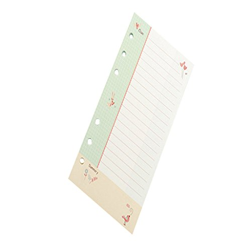 Homyl 40 Sheets A6 Colored Refill Note Paper - Loose Replacement Sheets - Corn LL, as described