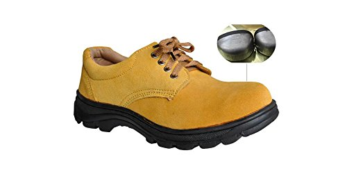 Men's Work Safety Shoes, Steel Toe Work Shoes Industrial & Construction Shoes Puncture Proof Safety Shoes (11) by GeBaoZhen