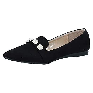 Shoes Story Black Slip On For Women