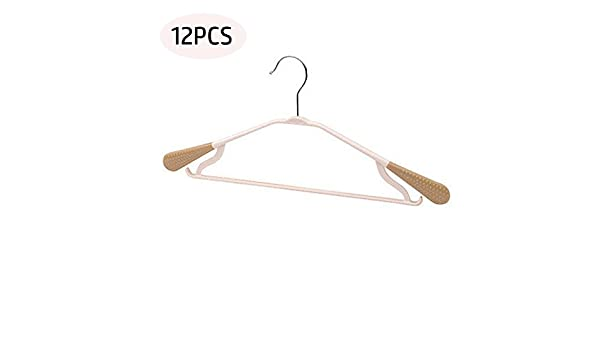 UNA DOCENA---Perchas de plástico antideslizante Durable Orginazer para colgar ropa gancho para pantalones, vestido, chaqueta, ropa interior y camisa en ...
