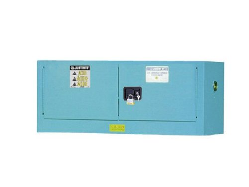 Justrite 8913022 ChemCor Steel 2 Door Manual Piggyback Lined Acid Corrosive Safety Cabinet, 12 Gallon Capacity, 18