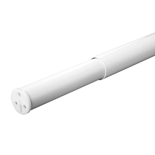 Closet Pro HD RP0020-48/72WT Adjustable Closet Rod, 48-Inch to 72-Inch, White