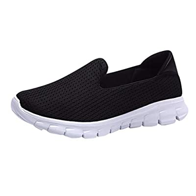 RAINED-Women Slip On Sneakers Walking Shoes Lightweight Mesh Breathable Yoga Sneakers Low Top Classic Loafers