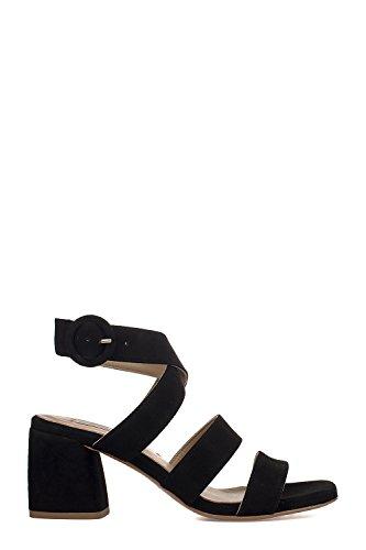 Barato En Línea Barata SS18 black suede leather sandals Fabio Rusconi Mercado Real Venta 100% Auténtico Genuina En Línea Alta Calidad Barata 8TmABD