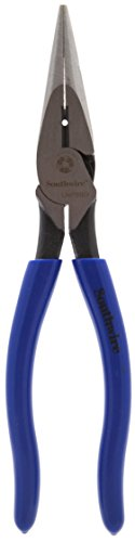 Southwire Tools & Equipment LNP8SD 8-Inch Heavy Duty Long-Nose Pliers with Side Cutter, Stripper, Dipped Handles