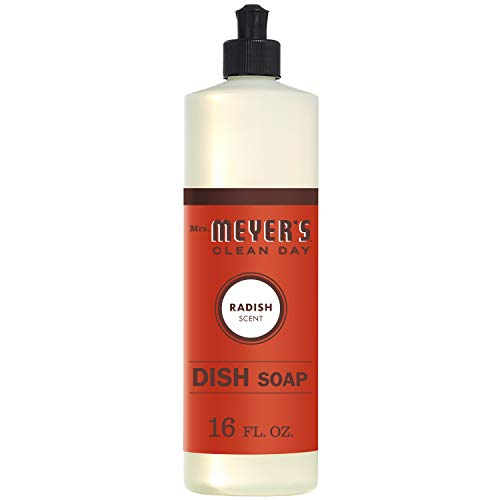 Mrs. Meyers Clean Day Liquid Dish Soap, Radish Scent, 16 ounce bottle