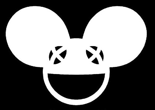 Deadmau5 Dead Head Decal Vinyl Sticker|Cars Trucks Walls Laptop|WHITE|5.5 In|URI102 (Deadmau5 Head Mask)