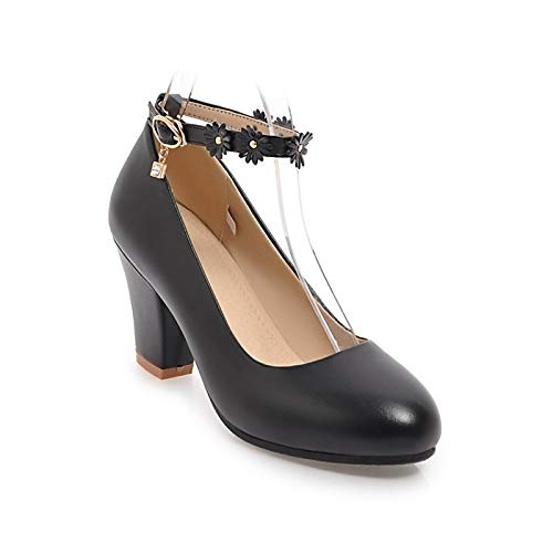 Black PU Chunky Summer Beige Women's amp; Pink Heel Black Spring Comfort ZHZNVX Heels Shoes Polyurethane p4x6q
