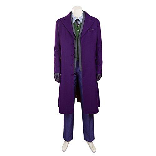 [MagicCosplay Men's The Dark Knight Rises Joker Halloween Costume Outfit(XXL)] (Joker Costumes Dark Knight Halloween)