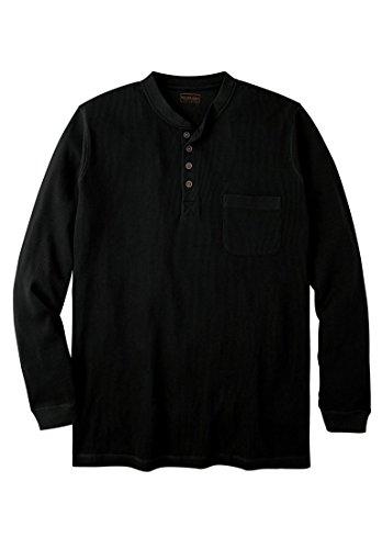 Boulder Creek Men's Big & Tall Easy-Care Pocket Longer-Length - Tall And Henley Shirts Big