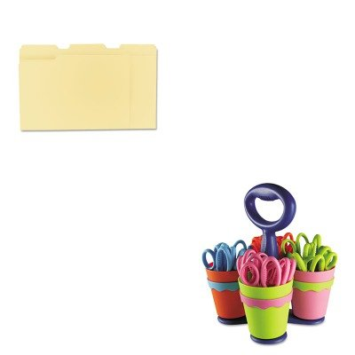 KITACM14756UNV12113 - Value Kit - Westcott School Scissor Caddy and 24 Kids Scissors With Microban (ACM14756) and Universal File Folders (UNV12113)