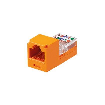 Panduit Mini-Com Cat5/Cat5e Jack Module, Orange CJ588OR