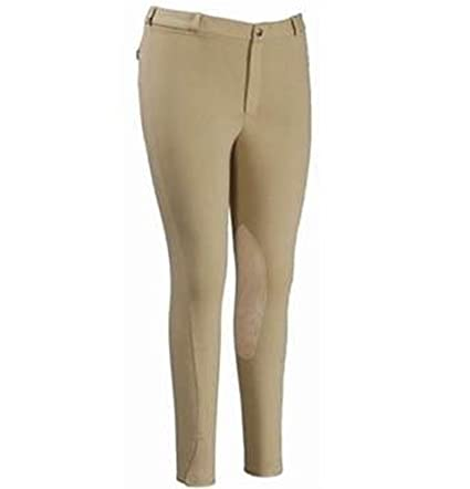 TuffRider Mens Cotton Knee Patch Breech JPC Equestrian Inc 10043-P
