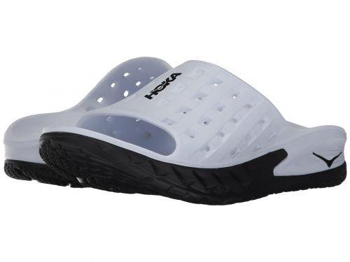 フェザー六流Hoka One One(ホカオネオネ) メンズ 男性用 シューズ 靴 サンダル フラット Ora Recovery Slide - Black/White [並行輸入品]