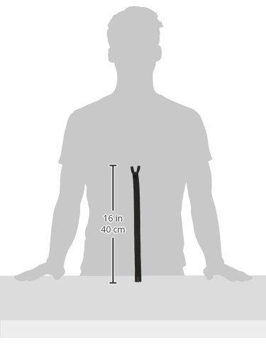 """Coats: Thread & Zippers F8414-002 Invisible Zipper, 12"""" to 14"""", Black"""