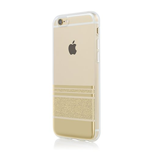 Incipio Carrying Case for Apple iPhone 6/6S - Retail Packaging - Wesley Stripes Pattern/Gold ()