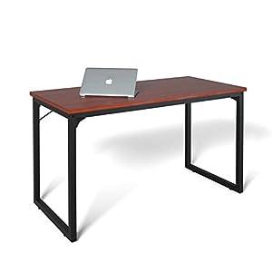 Computer Desk 47″, Mordern Simple Style Desk for Home Office, Sturdy Writing Desk, Coleshome, Teak