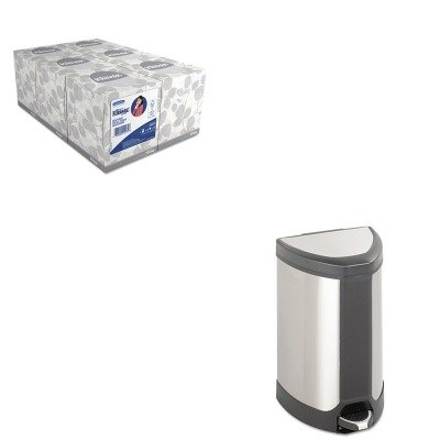 Step Saf9686ss Safco - KITKIM21271SAF9686SS - Value Kit - Safco Step-On Waste Receptacle (SAF9686SS) and KIMBERLY CLARK KLEENEX White Facial Tissue (KIM21271)