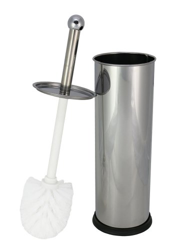 Stainless Steel Toilet Bowl Brush with Holder *Mirror Finish*