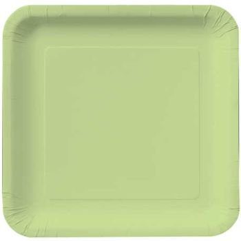 Creative Converting Touch of Color 18 Count Square Paper Dinner Plates, Pistachio