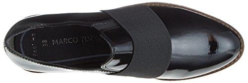 Marco Tozzi Damen 24708 Slipper Schwarz (Black Patent)