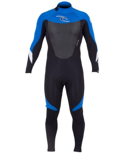 Rip Curl Dawn Patrol Back Zip 3/2 GB Wetsuit, Blue, Small
